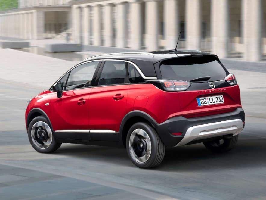 Opel Crossland, вигляд іззаду