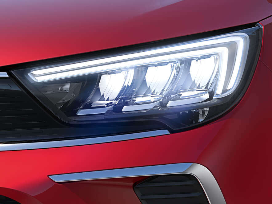 Opel Crossland, світлодіодні фари зсистемою AFL