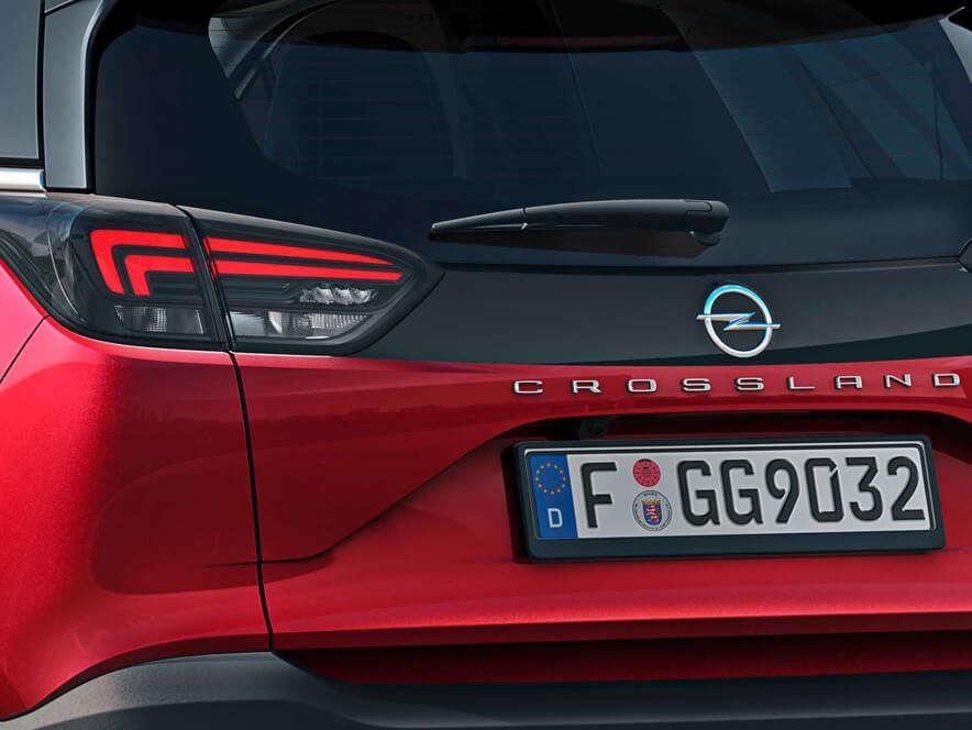 Opel Crossland, світлодіодні задні ліхтарі