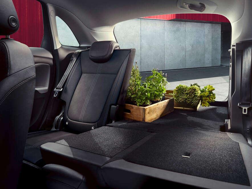 Opel Crossland, простір для багажу