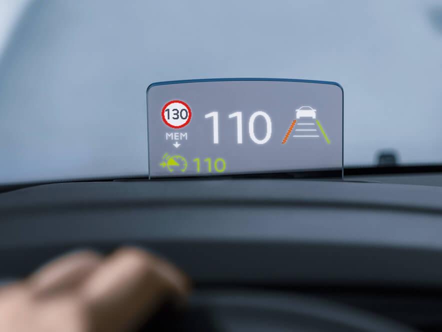 Opel, Zafira Life, проекційний дисплей під лобовим склом, Head-Up Display